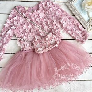 Other - pink tulle and petal baby dress